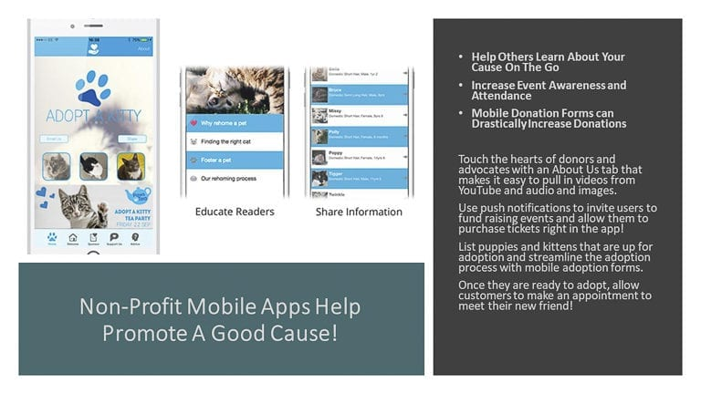 Non-Profit Mobile Apps Help Promote A Good Cause!
